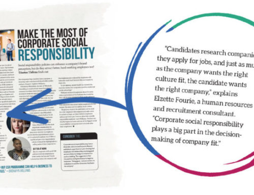 The Sunday Times Skills Development Magazine –  Make the most of Corporate Social Responsibility
